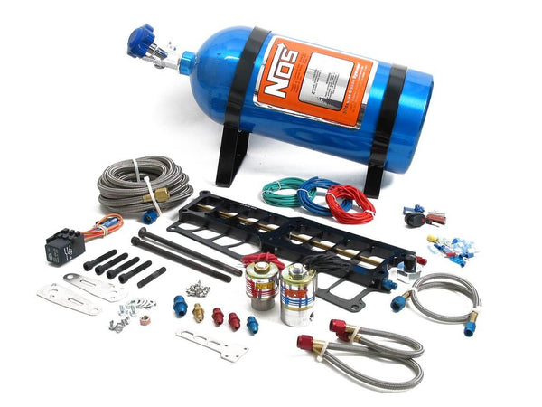 NOS Plate Wet Nitrous System - Ford 1986-1995 5.0L with Holley SysteMAX