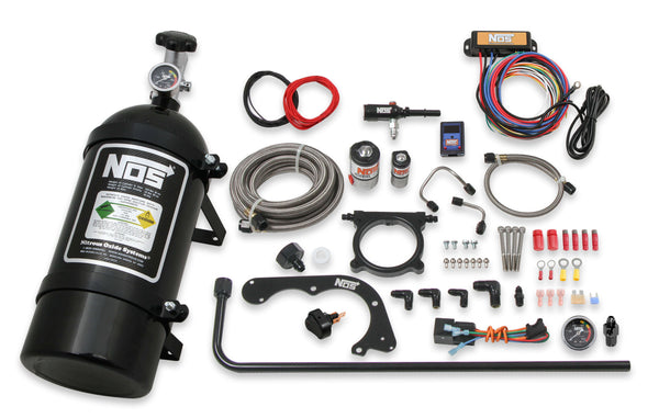 NOS Plate Wet Nitrous System - Ford 2011-2014 5.0L Coyote - Black Bottle - Part# 02125BNOS