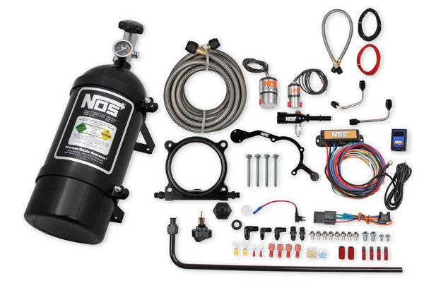 NOS Plate Wet Nitrous System - 2015-2017 Ford Coyote - Black Bottle - Part# 02126BNOS