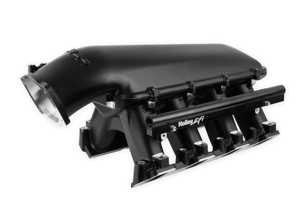 Holley LS Hi-Ram EFI Manifold- Black - LS7 Engines - 105MM - Part# 300-125BK