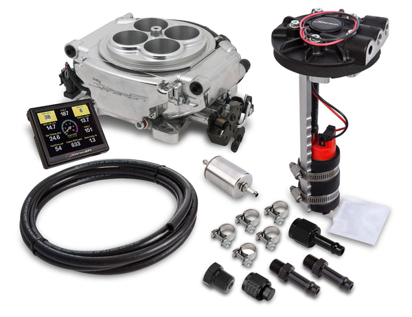 Holley Sniper 4150 4BBL EFI Returnless Master Kit - Shiny Finish - Part# 550-510D