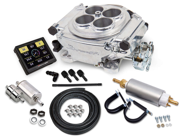 Holley Sniper 4150 4BBL EFI Self-Tuning Master Kit - Shiny Finish - Part# 550-510K