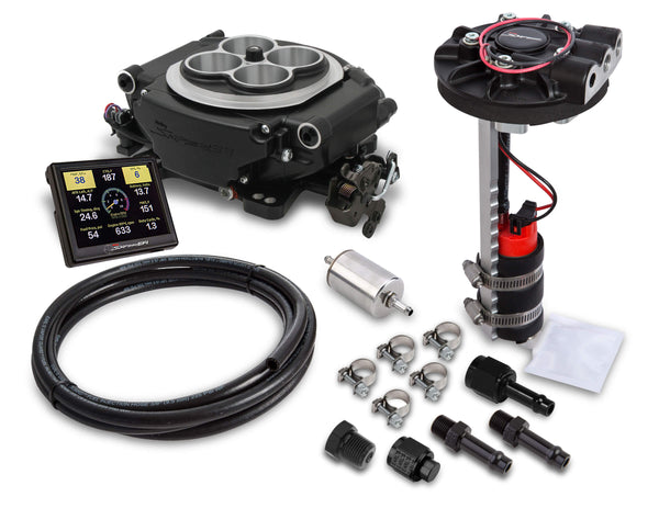 Holley Sniper 4150 4 BBL EFI Returnless Master Kit - Black Ceramic - Part# 550-511D