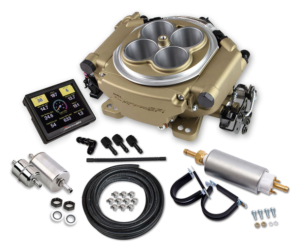 Holley Sniper 4150 4BBL EFI Self-Tuning Master Kit - Classic Gold Finish- Part# 550-516K