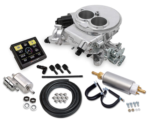 Holley Sniper EFI 2300 Self-Tuning Master Kit - Shiny Finish - Part# 550-849K