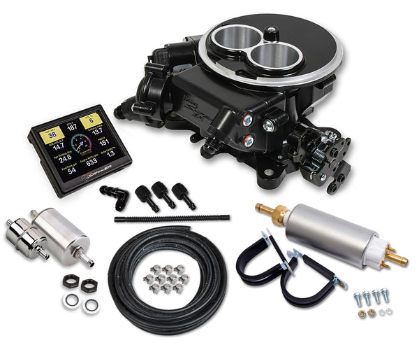 Holley Sniper EFI 2300 Self-Tuning Master Kit - Black Ceramic Finish - Part# 550-850K