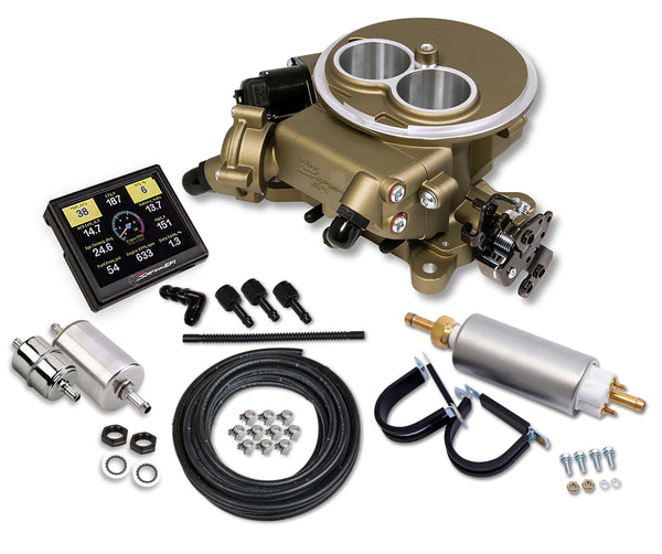 Holley Sniper EFI 2300 Self-Tuning Master Kit - Classic Gold Finish - Part# 550-851K