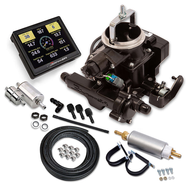 Holley Sniper EFI BBD Master Kit for Jeep CJ - Black - Part# 550-859K