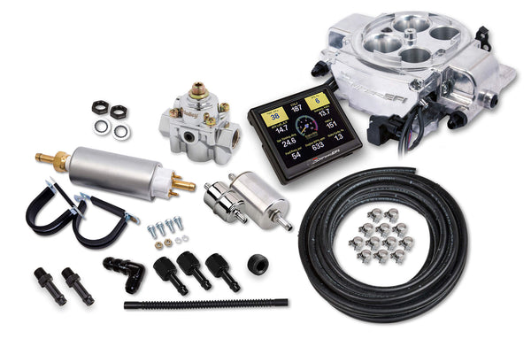 Holley Sniper EFI Quadrajet™ Master Kit - Shiny Finish - Part# 550-867K