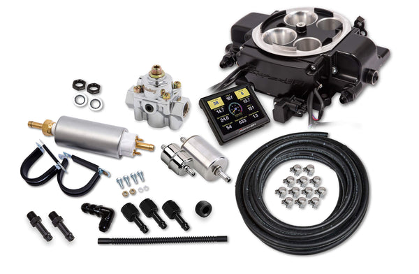 Holley Sniper EFI Quadrajet™ Master Kit - Black Ceramic - Part# 550-868K