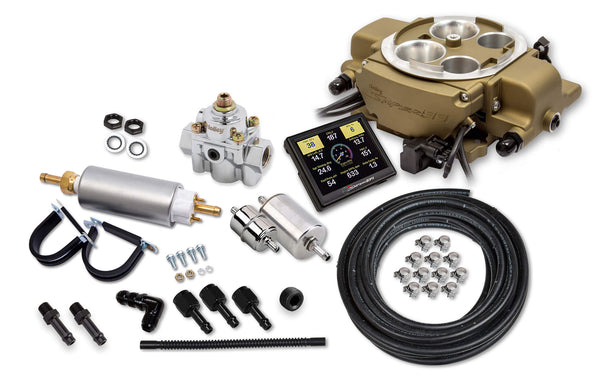 Holley Sniper EFI Quadrajet™ Master Kit - Classic Gold Finish - Part# 550-869K