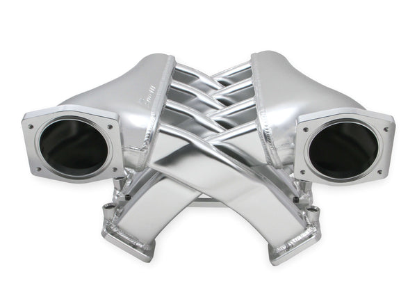 Holley Sniper EFI Fabricated Intake Manifold Dual Plenum 92mm GM LS3/L92, and Fuel Rail Kit - Silver - Part# 822201