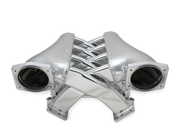 Holley Sniper EFI Fabricated Intake Manifold Dual Plenum 102mm GM LS3/L92, and Fuel Rail Kit - Silver - Part# 822241