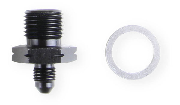 Earl's GM LS Oil Pressure Gauge Adapter Fittings - Black - Part# AT9919BFJERL