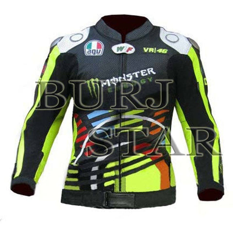Valentino Rossi VR46 Motorbike Racing Leather Jacket