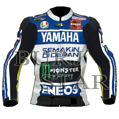 Rossi Yamaha Motorbike, Motorcycle Racing Leather Jacket - B