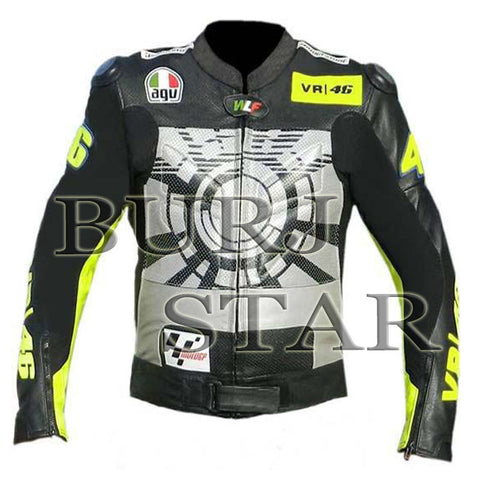 Valentino Rossi VR46 Motorbike Leather Jacket