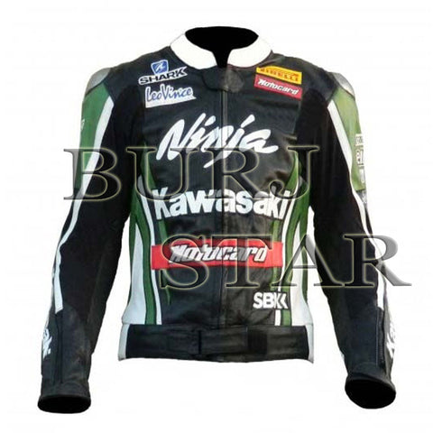 TOM SYKES Kawasaki Ninja Motorbike Racing Leather Jacket