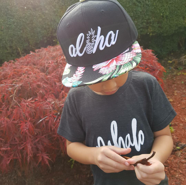 Aloha Pineapple Hibiscus Snapback - Toddler/ Youth
