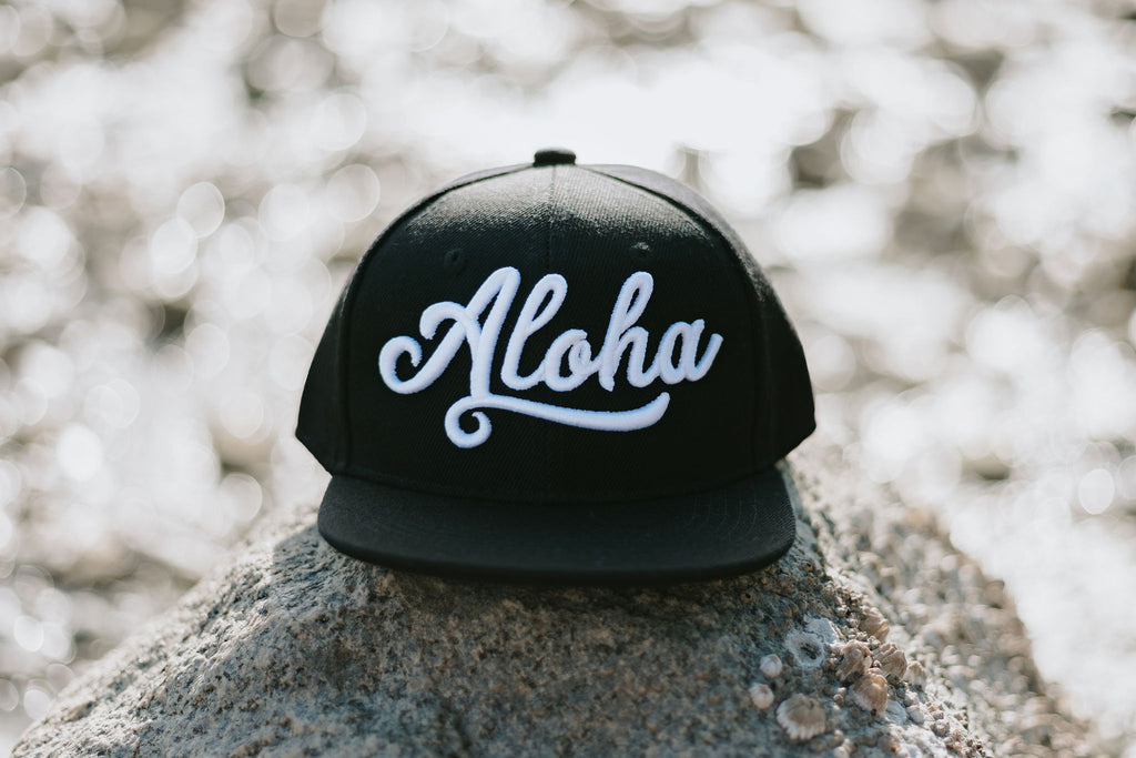 Aloha Black Snapback New - Toddler/Youth