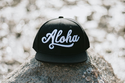 Aloha Black Snapback New - Adult