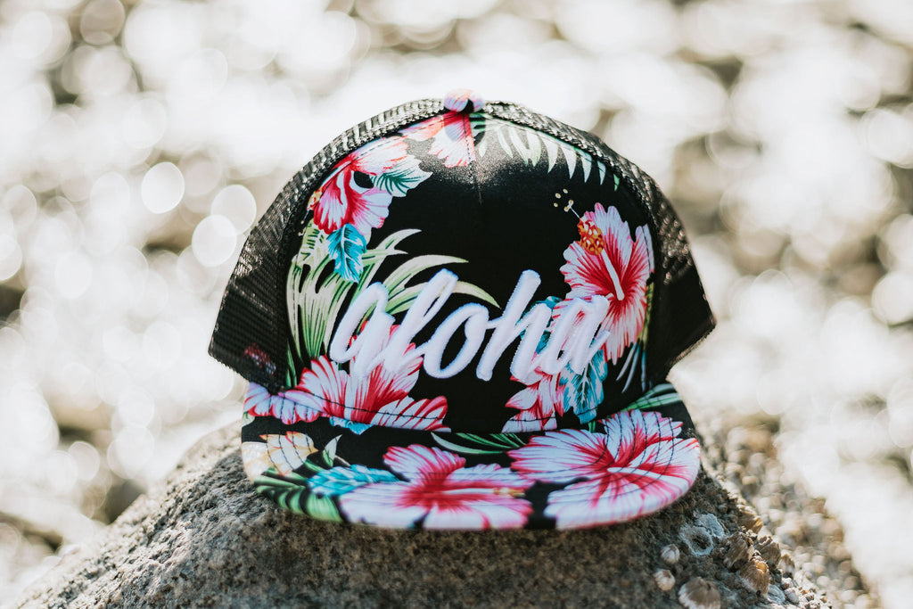 Limited Edition Aloha Hibiscus Trucker Snapback - Toddler/Youth