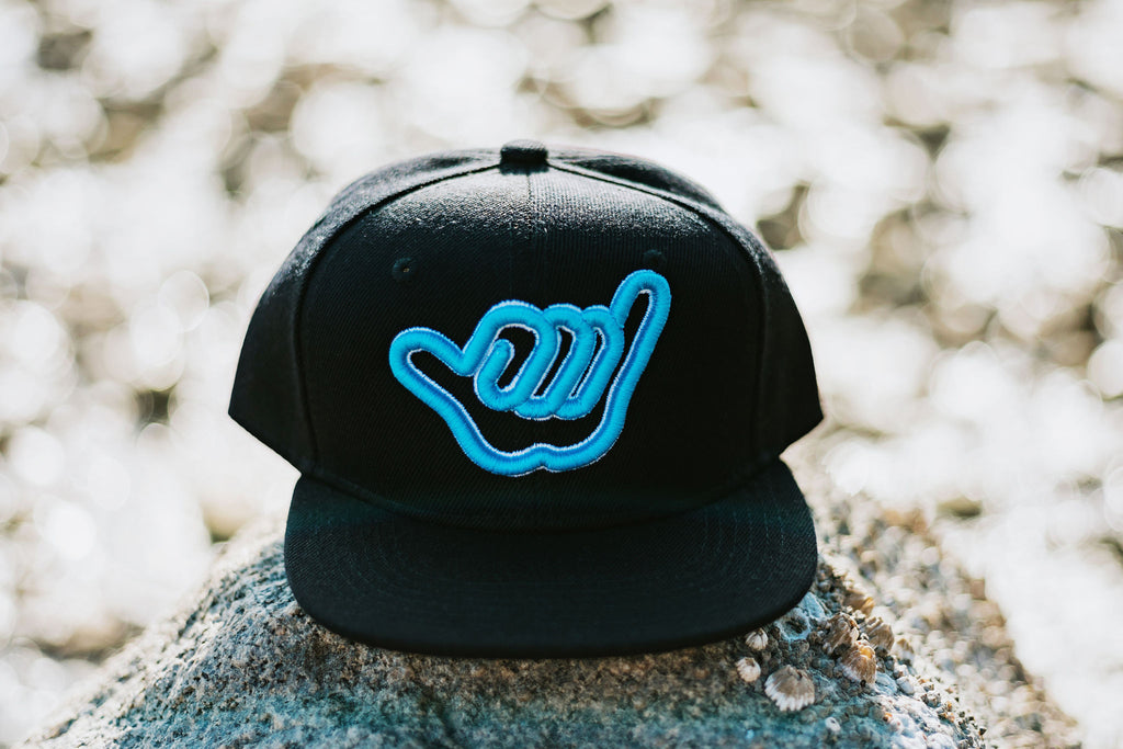 Shaka Blue and White Snapback - Baby