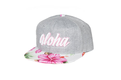 Aloha Hibiscus White adult snapback - Special Edition