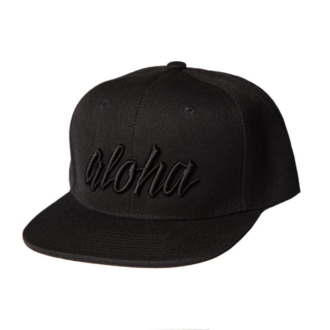Aloha Black on Black Snapback - Adult