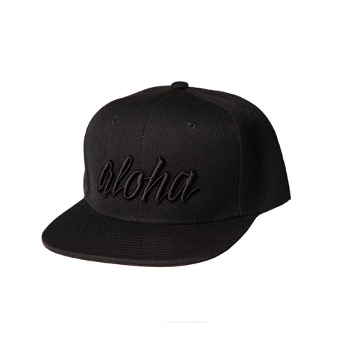 Aloha Black on Black Snapback - Baby