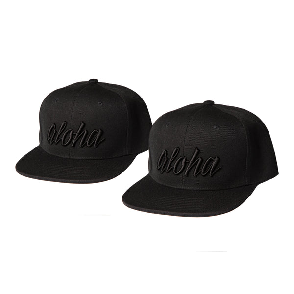 Aloha Black on Black Snapback - Toddler/Youth