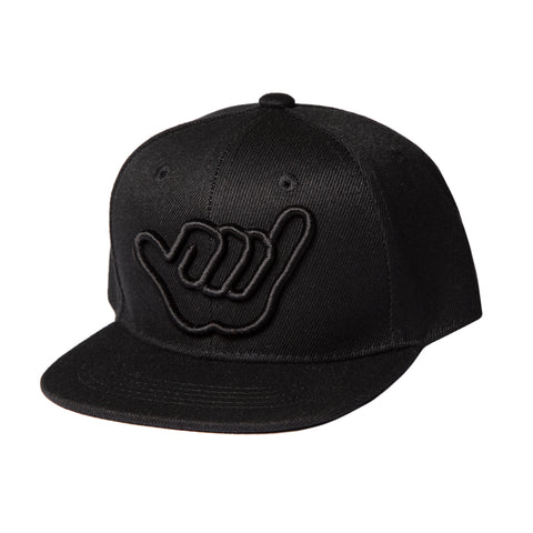 Shaka Black on Black Snapback - Adult