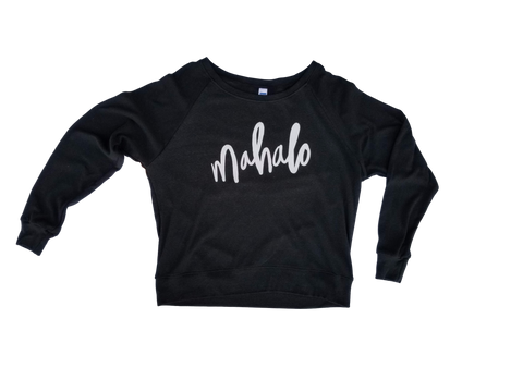 Mahalo women's charcoal pullover
