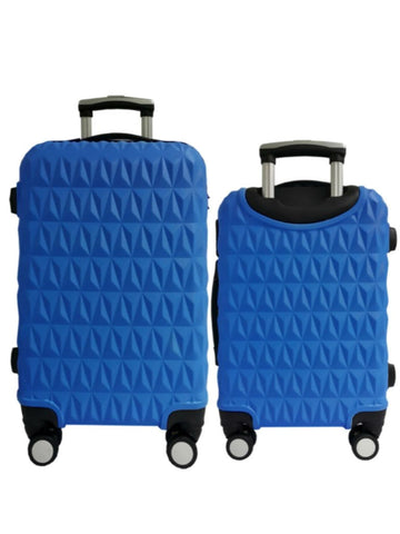 "20""/24"" Hard Case Prism Travel Luggage [Blue] - VixenQue - 1"