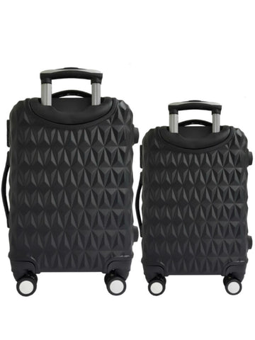 "20""/24"" Hard Case Prism Travel Luggage [Black] - VixenQue"