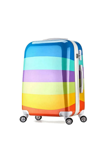 "20"" Korean Lightweight Travel Luggage [Rainbow] - VixenQue - 1"