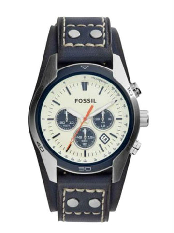 Fossil CH3051 Coachman Chronograph Off-White Dial Men's Watch