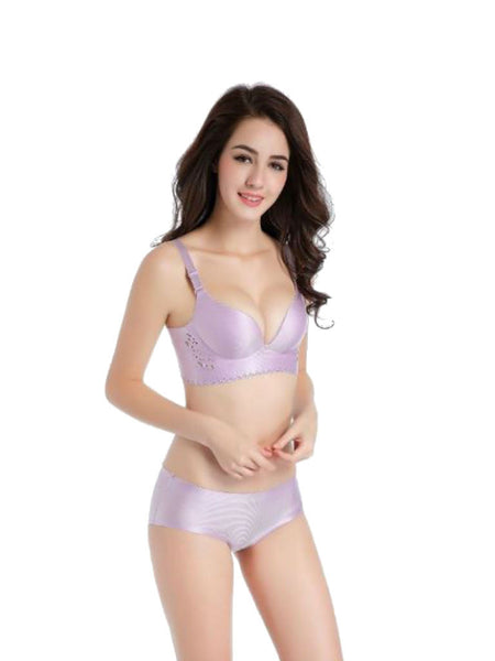 Belle's Lingerie Rimless Comfort Bra Set - Flower Side Series - VixenQue - 1