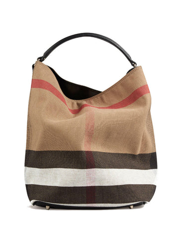 Burberry Medium Ashby In Canvas Check and Leather - VixenQue - 1