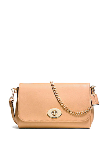 Coach 34604 Leather Mini Ruby Crossbody - Apricot - VixenQue