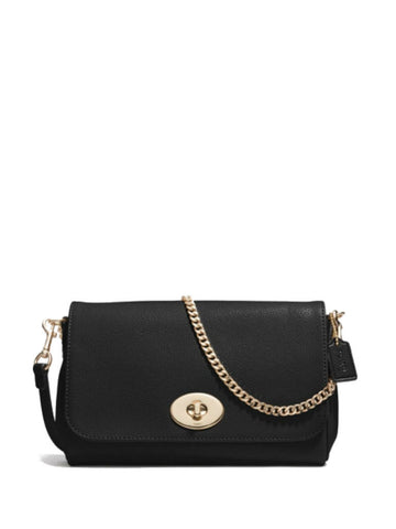 Coach 34604 Leather Mini Ruby Crossbody - Black - VixenQue - 1