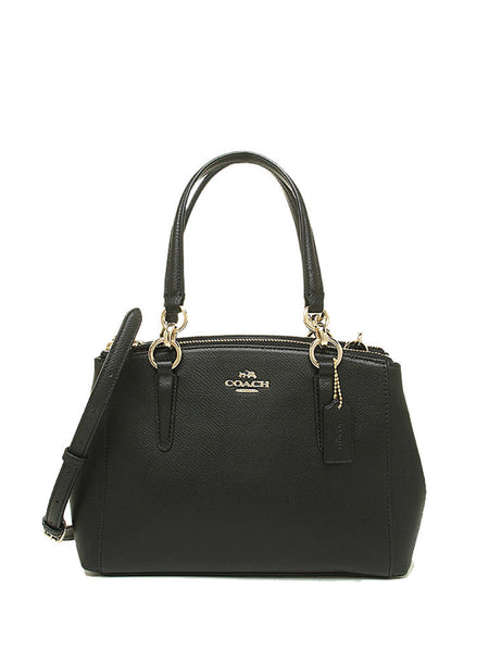 Coach 36704 Crossgrain Leather Mini Christie Carryall - Black - VixenQue - 1