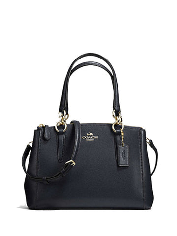 Coach 36704 Crossgrain Leather Mini Christie Carryall - Midnight