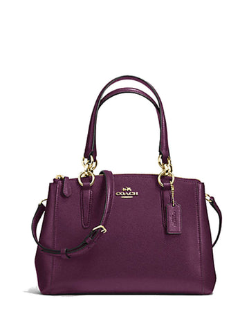 Coach 36704 Crossgrain Leather Mini Christie Carryall - Plum