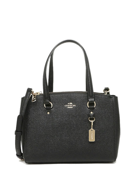 Coach 37145 Crossgrain Leather Stanton Carryall 26 - Black - VixenQue - 1