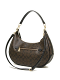 Coach 38267 Signature Harley East / West Hobo - Brown Black - VixenQue - 2