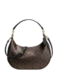 Coach 38267 Signature Harley East / West Hobo - Brown Black - VixenQue - 1