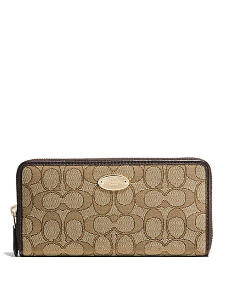Coach 53539 Signature Slim Envelope Wallet - Khaki - VixenQue - 1