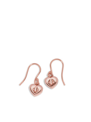 Coach 54489 Turnlock Heart Wire Earring - Rose Gold - VixenQue