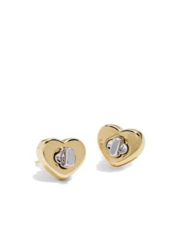 Coach 54490 Turnlock Heart Studded Earring - VixenQue